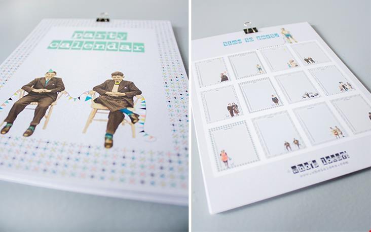 Voor- en achterkant van de kalender