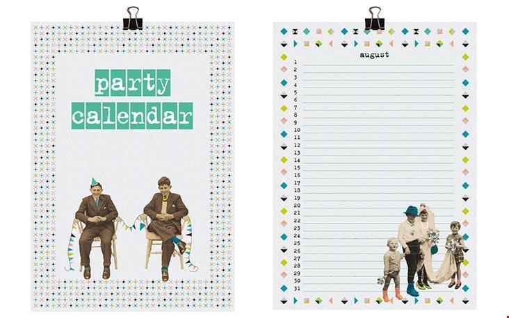 De kalender heeft op elke pagina een ander patroon en foto